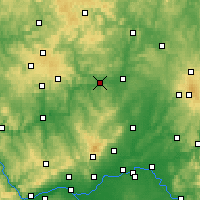 Nearby Forecast Locations - Wetzlar - mapa