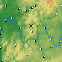 Nearby Forecast Locations - Neuhütten - mapa