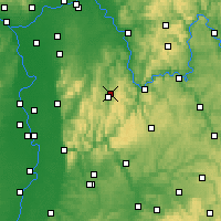 Nearby Forecast Locations - Odenwald - mapa