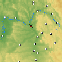 Nearby Forecast Locations - Bamberg - mapa