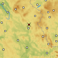 Nearby Forecast Locations - Grafenwöhr - mapa