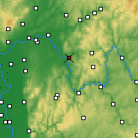 Nearby Forecast Locations - Aschaffenburg - mapa