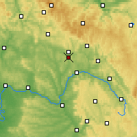 Nearby Forecast Locations - Coburg - mapa