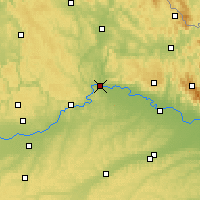 Nearby Forecast Locations - Ratyzbona - mapa