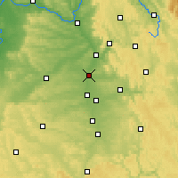 Nearby Forecast Locations - Erlangen - mapa