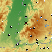 Nearby Forecast Locations - Fryburg Bryzgowijski - mapa