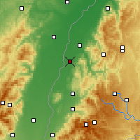 Nearby Forecast Locations - Lahr/Schwarzwald - mapa
