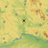 Nearby Forecast Locations - Schwandorf - mapa