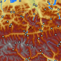 Nearby Forecast Locations - Maria Alm am Steinernen Meer - mapa