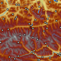 Nearby Forecast Locations - Kaprun - mapa