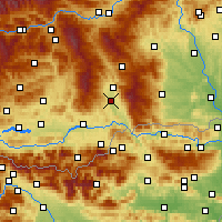 Nearby Forecast Locations - St. Andrä - mapa