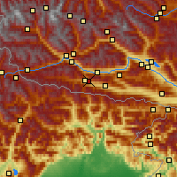 Nearby Forecast Locations - Kötschach - mapa