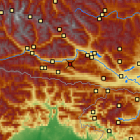 Nearby Forecast Locations - Weißensee - mapa