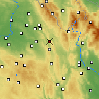 Nearby Forecast Locations - Uście nad Orlicą - mapa