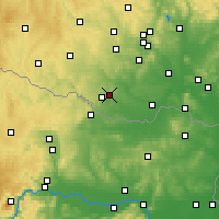 Nearby Forecast Locations - Kuchařovice - mapa
