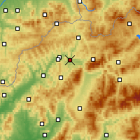 Nearby Forecast Locations - Żylina - mapa