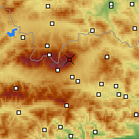 Nearby Forecast Locations - Łomnica - mapa