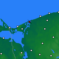 Nearby Forecast Locations - Dziwnów - mapa