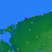 Nearby Forecast Locations - Niechorze - mapa