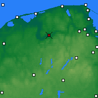 Nearby Forecast Locations - Lębork - mapa