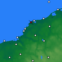 Nearby Forecast Locations - Jarosławiec - mapa