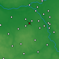 Nearby Forecast Locations - Brwinów - mapa
