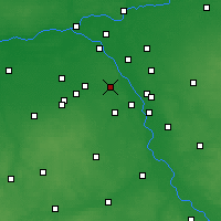 Nearby Forecast Locations - Warszawa - mapa
