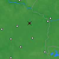 Nearby Forecast Locations - Biała Podlaska - mapa