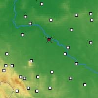 Nearby Forecast Locations - Wrocław - mapa