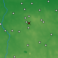 Nearby Forecast Locations - Łódź - mapa