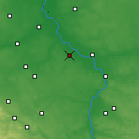 Nearby Forecast Locations - Kozienice - mapa