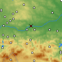 Nearby Forecast Locations - Kraków - mapa
