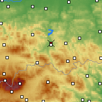 Nearby Forecast Locations - Nowy Sącz - mapa