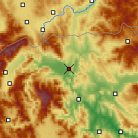 Nearby Forecast Locations - Skopje - mapa