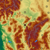 Nearby Forecast Locations - Kukës - mapa