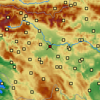 Nearby Forecast Locations - Lublana - mapa