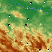 Nearby Forecast Locations - Banja Luka - mapa