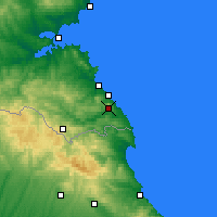 Nearby Forecast Locations - Achtopol - mapa