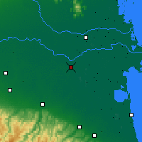 Nearby Forecast Locations - Ferrara - mapa