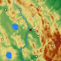 Nearby Forecast Locations - Perugia - mapa