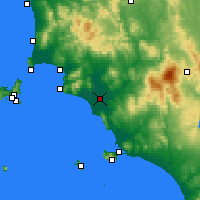 Nearby Forecast Locations - Grosseto - mapa