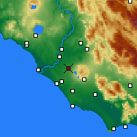 Nearby Forecast Locations - Ciampino - mapa