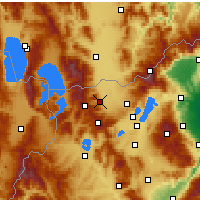 Nearby Forecast Locations - Florina - mapa