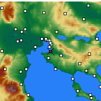 Nearby Forecast Locations - Saloniki - mapa