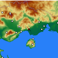 Nearby Forecast Locations - Kawala - mapa