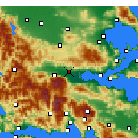 Nearby Forecast Locations - Lamia - mapa