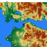Nearby Forecast Locations - Patras - mapa