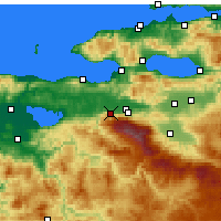 Nearby Forecast Locations - Bursa - mapa