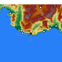 Nearby Forecast Locations - Kaş - mapa