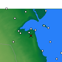 Nearby Forecast Locations - Kuwejt - mapa